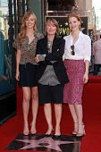 Ahna O'Reilly, Sissy Spacek and Jessica Chastain at Sissy Spacek's induction into the Hollywood Walk of Fame, Hollywood Blvd, Hollywood, CA. 08-01-11