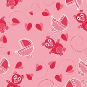 Children Pink Abstract Seamless Pattern