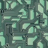 Seamless Backdrop Of Electrical Circuit Board.