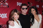 Paula Abdul, Simon Cowell and Nicole Scherzinger at