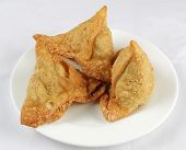 image of samosa  - samosas for special Diwali festival at home - JPG