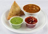 samosa with chickpeas