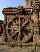 Chariot Wheel At Konark Sun Temple