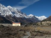Gangapurna, Tilicho Peak and monastry