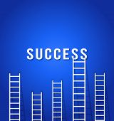 Ladder Competition  To Success-concept Business Success