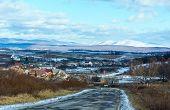 Winter Village In Ukraine.