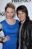 Molly McCook and Devon Werkheiser at the AVENUE Q Los Angeles Return, Pantages, Hollywood, CA. 03-01-11
