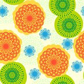 Seamless floral pattern in bright colors