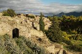 View over Ancient ruins of Pompeii Italy