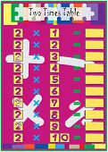 Multiplication Math Drill With Two Times Table