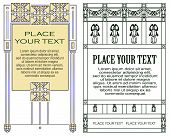 Template for the design of advertisements and other online or printed products