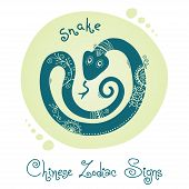 Snake. Chinese Zodiac Sign