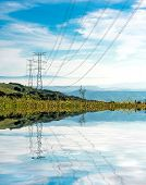 stock photo of power transmission lines  - Electricity Pylon  - JPG