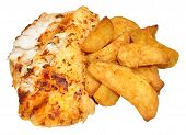Baked Fish And Potato Wedges