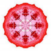 Abstract circle painting. Raster illustration