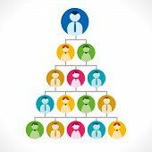 multi-level marketing or people tree or leadership