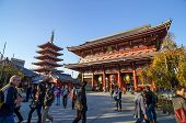 Tokyo, Japan - November 21: The Buddhist Temple Senso-ji Is The Symbol Of Asakusa, Tokyo, Japan