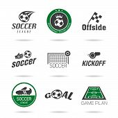 stock photo of offside  - Icons can be used in football related jobs - JPG