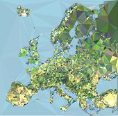 Polygonal Europa Map