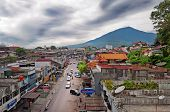 Bukittinggi And Mount Singgalangand. Sumatra Island. Indonesia