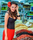 Spanish woman in the market