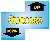 Enter Key To Success Up Or Down