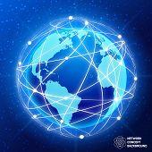 Network globe concept