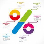 creative percentage sign info-graphics design concept vector