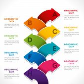 creative colorful arrow info-graphics background vector