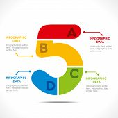 creative number '5' info-graphics design concept vector