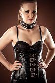 beautiful woman in corset