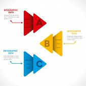 creative arrow business info-graphics design concept vector