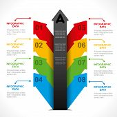 creative arrow colorful info-graphics design concept vector