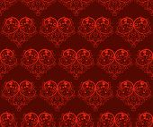 Seamless pattern with hearts - Valentines Day