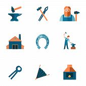 Blacksmith icon set