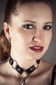 pretty woman in the image a slave