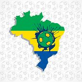 Brazilian soccer in brazil map
