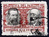 Postage Stamp Paraguay 1940 President Patricio Escobar And Ramon Zubizarreta
