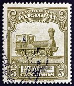 Postage Stamp Paraguay 1944 Locomotive