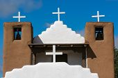 San Geronimo Chapel In Taos Pueblo, Usa