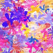 Seamless Bright Splash Pattern. Vector Illustration
