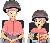 Illustration of a Mother and Daughter Bonding in a Salon