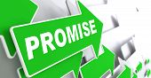 Promise on Green Direction Arrow Sign.