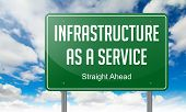 Infrastructure as a Service on Green Highway Signpost.