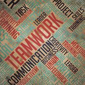 Teamwork Background - Wordcloud Concept.