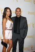 LOS ANGELES - JUN 19:  Christel Khalil, Bryton James at the ATAS Daytime Emmy Nominees Reception at