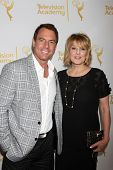 LOS ANGELES - JUN 19:  Mark Steines, Christina Ferrare at the ATAS Daytime Emmy Nominees Reception a