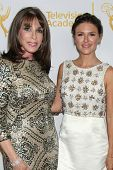 LOS ANGELES - JUN 19:  Kate Linder, Elizabeth Hendrickson at the ATAS Daytime Emmy Nominees Receptio