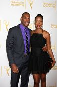 LOS ANGELES - JUN 19:  Lawrence Saint-Victor, Shay Flake at the ATAS Daytime Emmy Nominees Reception