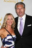 LOS ANGELES - JUN 19:  Sharon Case, date at the ATAS Daytime Emmy Nominees Reception at the London H